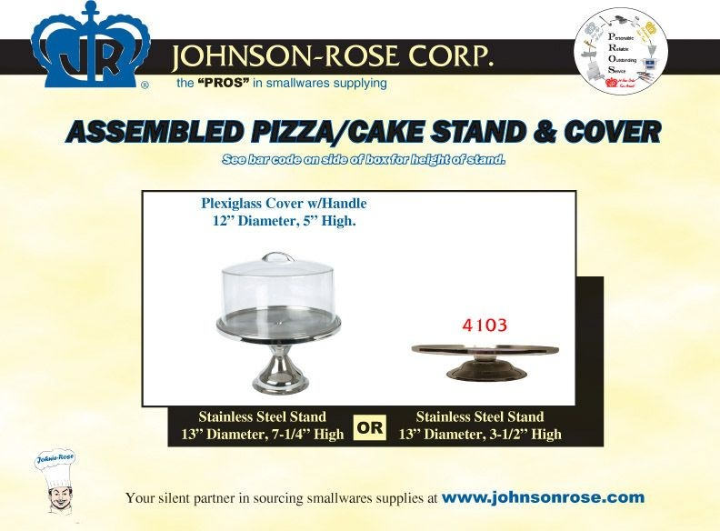 Johnson Rose 4103 Cake and Pastry Display Stand Set With Plexiglass Cover 13