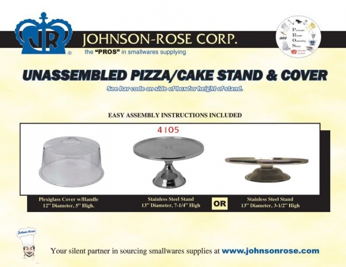 Johnson Rose 41055 Cake and Pastry Display Stand Set with Plexiglass Cover 13