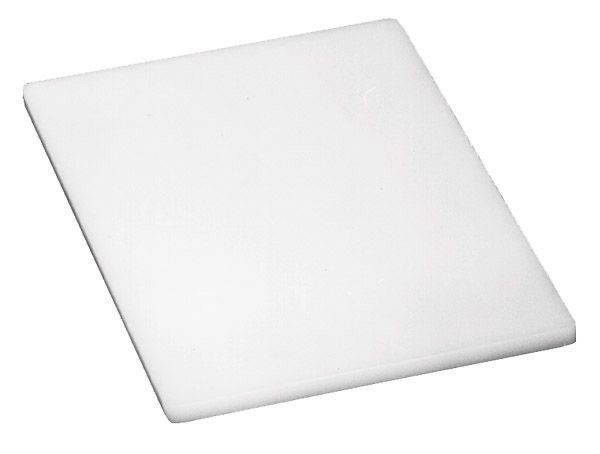 "Johnson Rose 4319 White Poly Cutting Board 6"" x 10"""