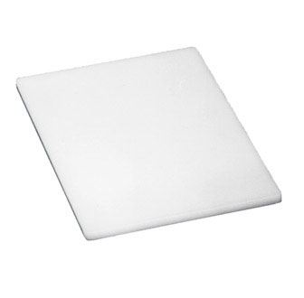 "Johnson Rose 4320 White Poly Cutting Board 12"" x 18"""