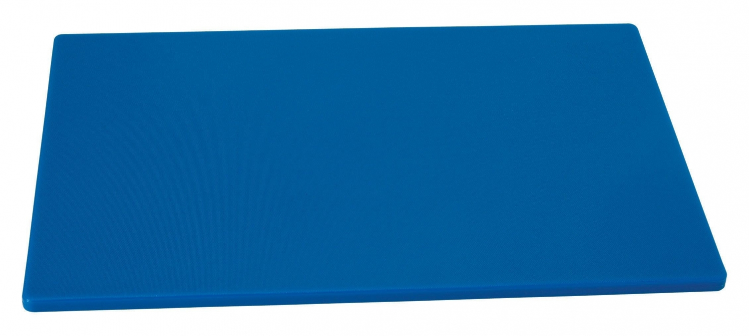"Johnson Rose 4330 Blue Poly Cutting Board 12"" x 18"""