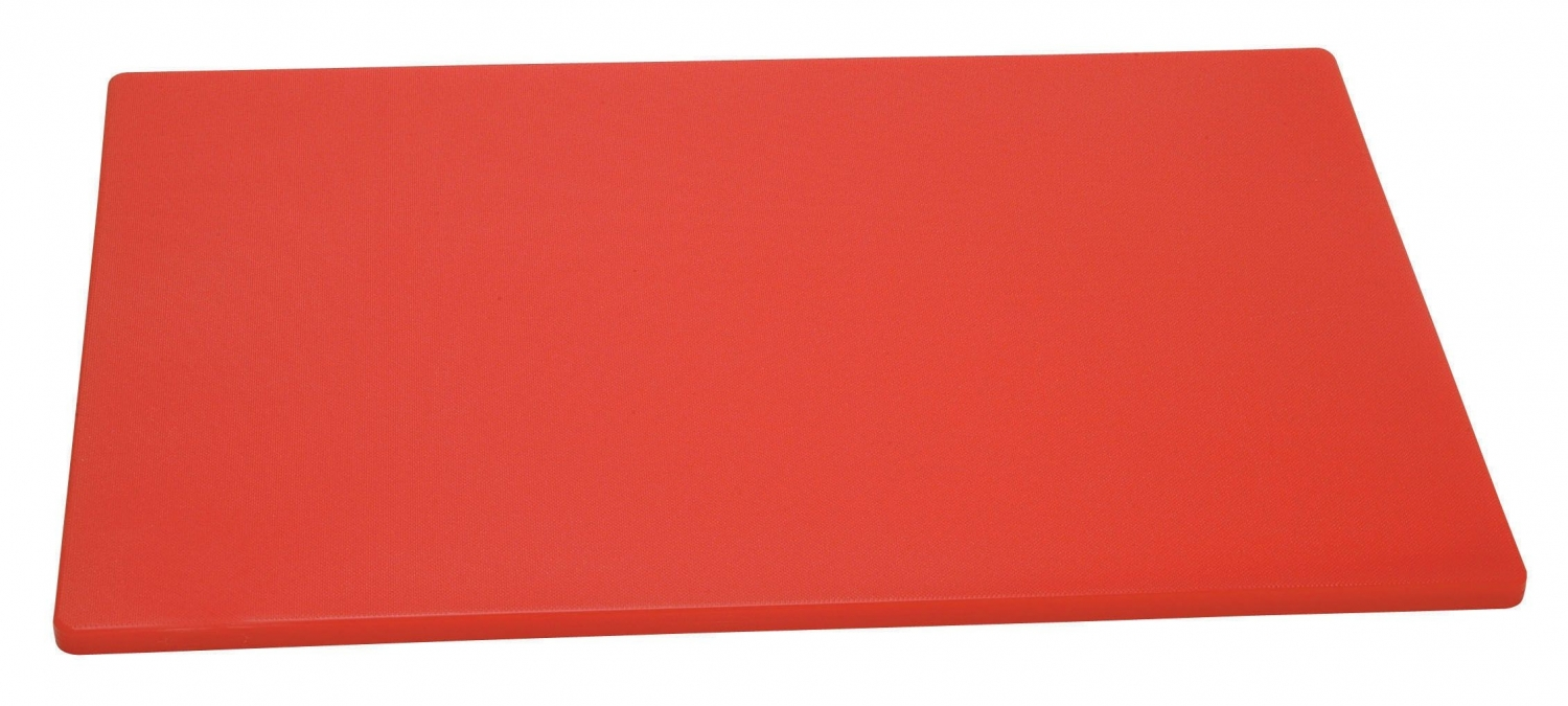 "Johnson Rose 4331 Red Poly Cutting Board 12"" x 18"""
