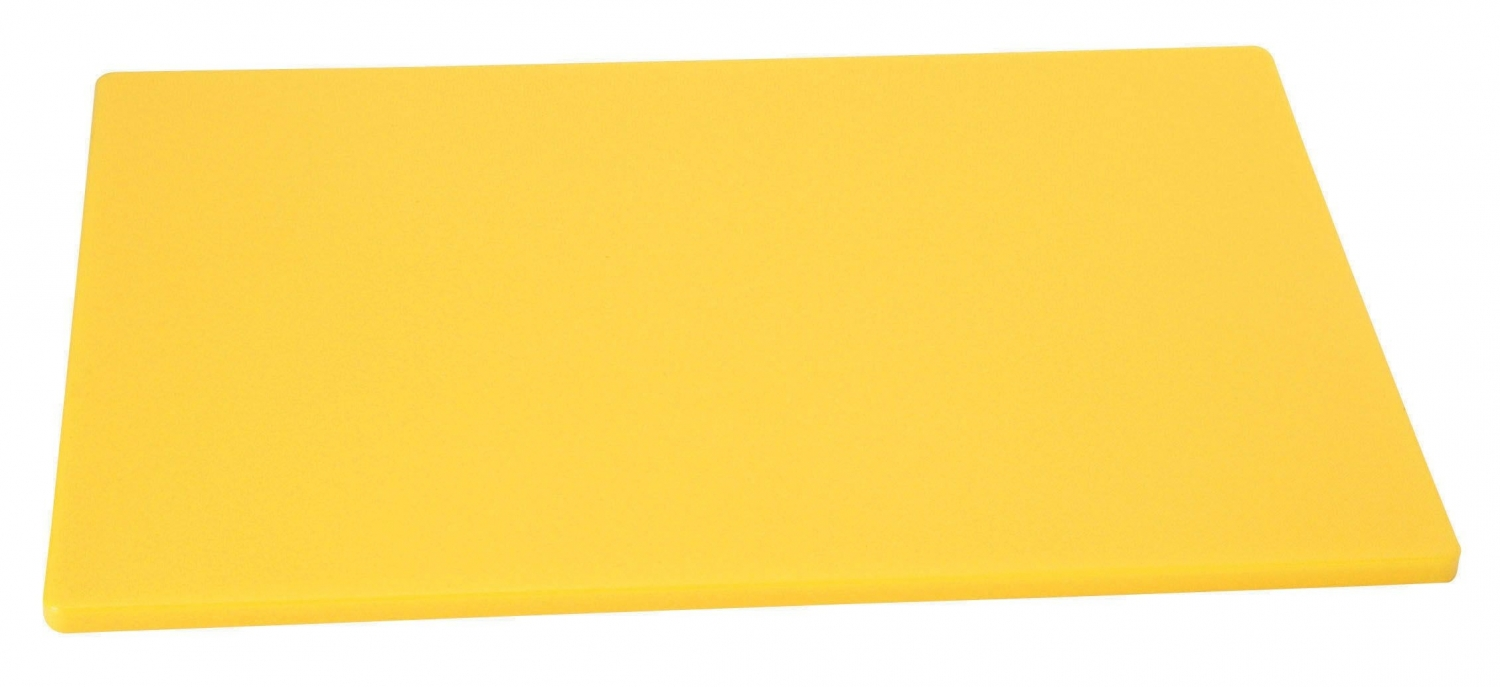 "Johnson Rose 4333 Yellow Poly Cutting Board 12"" x 18"""
