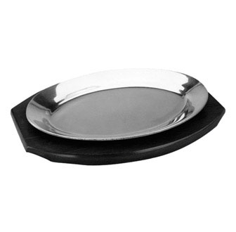 "Johnson Rose 4491 12-1/2"" X 8-1/4"" Oval Sizzle Platter Base For Model # 4481"