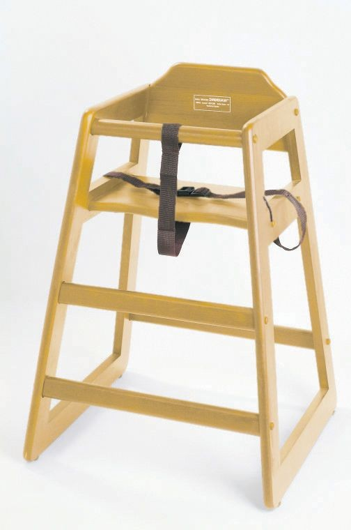 Johnson Rose 4504 Natural Wood High Chair