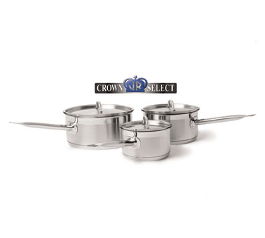 Johnson Rose 47680 Crown Select Induction Sauce Pan with Cover and Helper Handle 7-3/4 Qt.