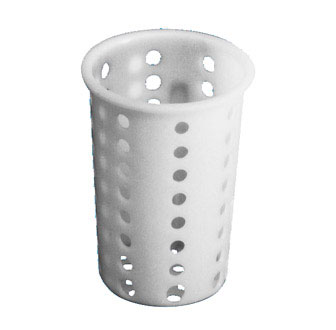 Johnson Rose 5255 White Plastic Cutlery Cylinder