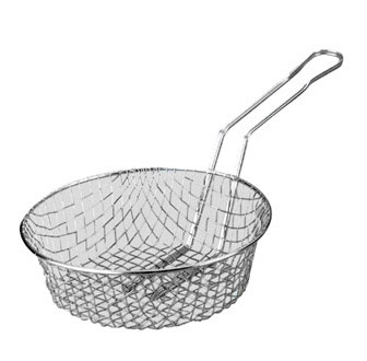 "Johnson Rose 5642 12"" X 3"" Coarse Mesh Wire Culinary Basket"