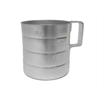 Johnson Rose 6154 Aluminum Dry Baker's Measure 4 Qt.