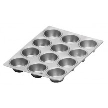 "Johnson Rose 6262 12 Cup Muffin Pan 3-1/2 oz. Cup 14"" x 10-1/2"""