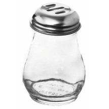 Johnson Rose 6608 6 oz Slotted Glass Jar Cheese Shaker - 1 doz