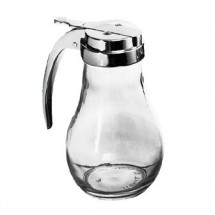 Johnson Rose 66142 14 oz Glass Jar Syrup Dispenser - 1 doz