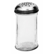 Johnson Rose 6800 12 oz Perforated Glass Jar Cheese Shaker (Jars Only) - 1 doz