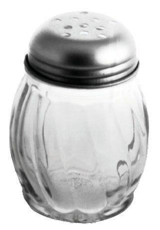 Johnson Rose 6816 6 oz Perforated Swirl Glass Jar Cheese Shaker - 6 doz