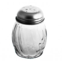 Johnson Rose 68162 6 oz Glass Jar Cheese Shaker (No Tops) - 1 doz