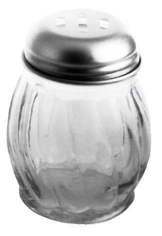 Johnson Rose 6817 6 oz Slotted Swirl Glass Jar Cheese Shaker - 1 doz