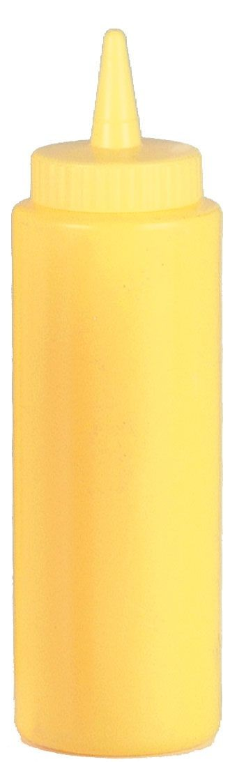 Johnson Rose 6828 8 oz Yellow Mustard Squeeze Bottle