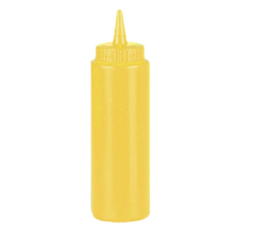 Johnson Rose 6952 12 oz Yellow Mustard Squeeze Bottle - 24 pcs
