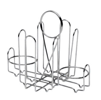 Johnson Rose 6977 2-Jar Wire Rack Sugar Packet & Shaker Holder