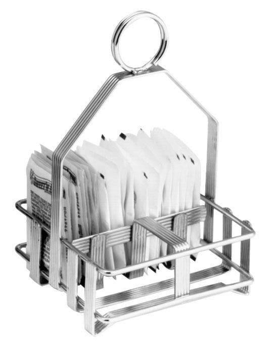 Johnson Rose 6978 2-Jar Wire Rack Sugar Packet & Shaker Holder