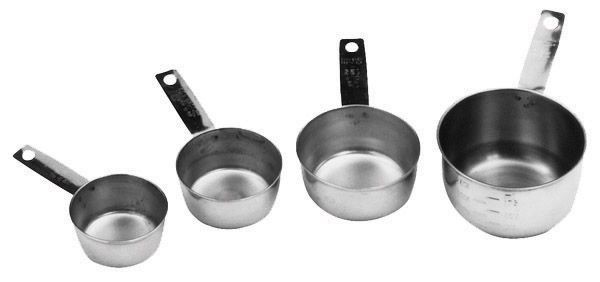 Johnson Rose 7329 Stainless Steel 4-Piece Measuring Cup Set