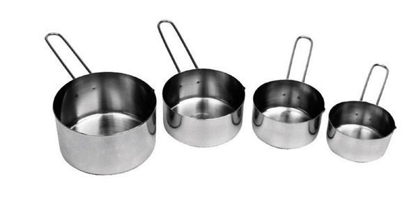 Johnson Rose 7330 Stainless Steel 4-Piece Wire Handle Measuring Cup Set