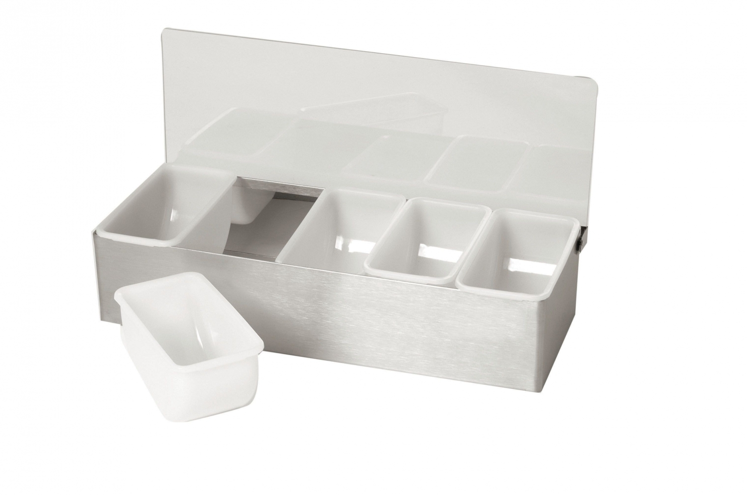Johnson Rose 7944  Condiment Server - Bar Caddy With 4 Inserts