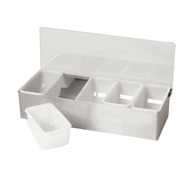 Johnson Rose 7945 Condiment Server - Bar Caddy With 5 Inserts