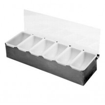 Johnson Rose 7946 Condiment Server - Bar Caddy With 6 inserts