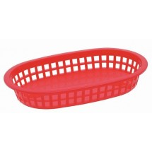 Johnson Rose 80762  Red Oval  Large Platter Basket