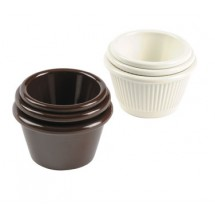 Johnson Rose 9343 Brown Fluted Melamine Ramekin 3 oz