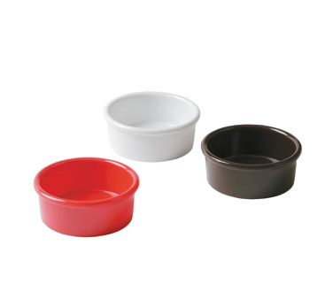 Johnson Rose 9362 White Smooth Melamine Ramekin 3 oz.