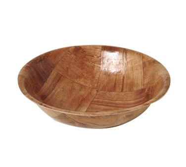 "Johnson Rose 9406 6"" Woven Keyaki Wood Salad Bowl"
