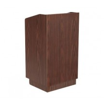 Johnson Rose POD-2 Walnut Maitre D' Station / Podium with Touch Latch Doors