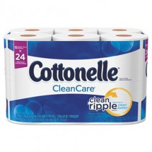 Cottonelle Clean Care 1-Ply Bathroom Tissue, 170 Sheets/Roll, 48 Rolls/Carton