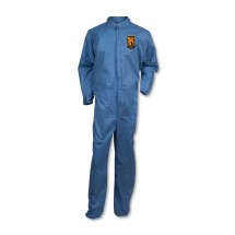 Kleenguard A20 Coveralls, MICROFORCE Barrier SMS Fabric, Blue, 2X-Large, 24/Carton
