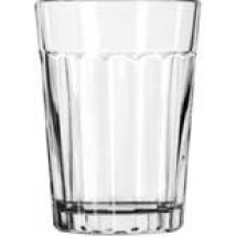 Libbey 15640 Paneled DuraTuff Juice Tumbler Glass 8.5 oz. - 3 doz