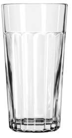 Libbey 15645 Paneled DuraTuff Jumbo Cooler Glass 24 oz. - 1 doz