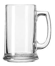 Libbey 5011 Handled Glass Beer Mug 15 oz. - 1 doz