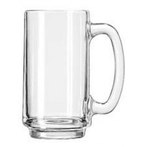Libbey 5012 Handled Glass Beer Mug 12.5 oz. - 2 doz