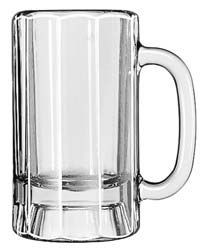 Libbey 5018 Paneled Beer Mug 14 oz. - 1 doz
