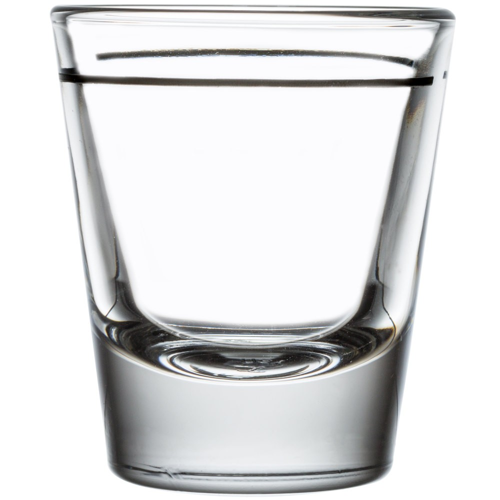 Libbey 5120/A0007 Whiskey / Shot Glass 1.5 oz. with 1 oz. Cap Line - 6 doz