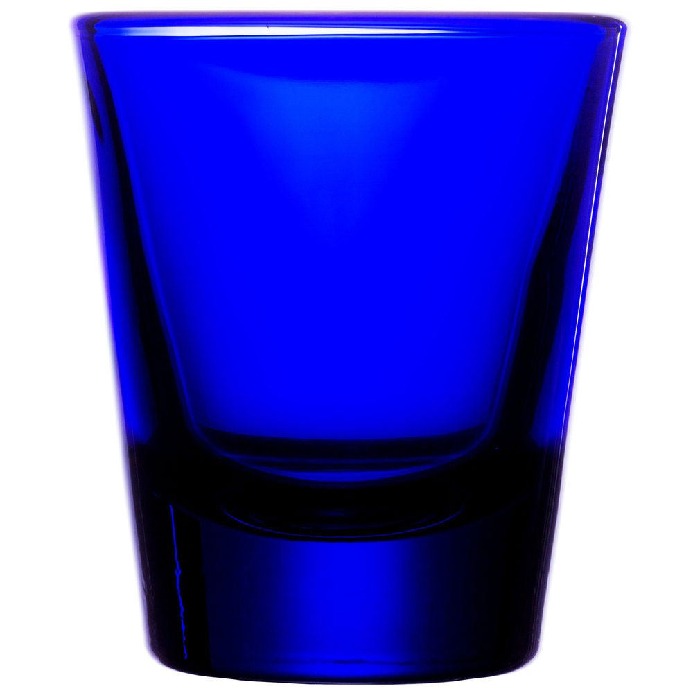 Libbey 5120B Cobalt Blue Whiskey Shot Glass 1.5 oz. - 6 doz