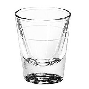 Libbey 5121/S0711 Fluted Whiskey / Shot Glass 1.25 oz. with 7/8 oz. Cap Line - 6 doz