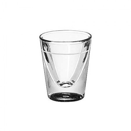 Libbey 5122/S0709 Fluted Whiskey / Shot Glass 1 oz. with 5/8 oz. Cap Line - 6 doz