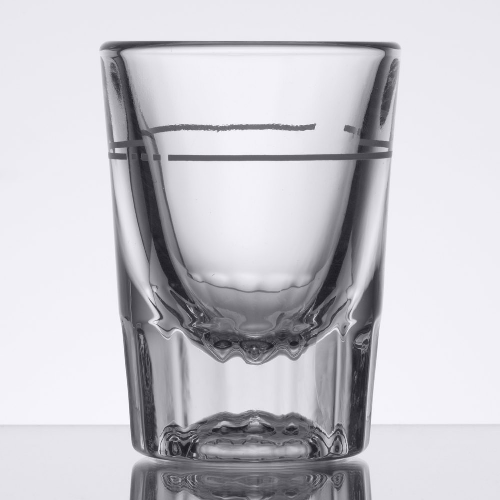 Libbey 5126/S0711 Lined Fluted Whiskey / Shot Glass 2 oz. - 4 doz