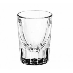 Libbey 5126 Fluted Whiskey Shot Glass 2 oz. - 4 doz