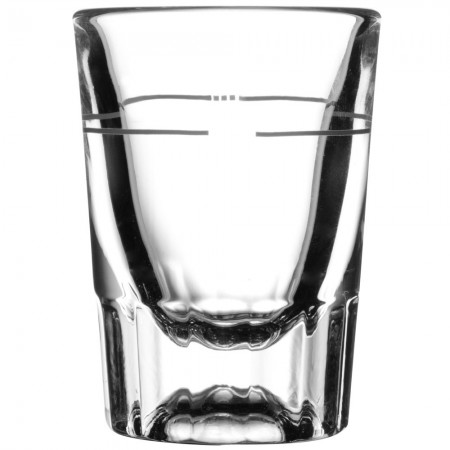 Libbey 5127/S0711 Fluted Whiskey / Shot Glass 1.5 oz. with 7/8 oz. Cap Line - 4 doz