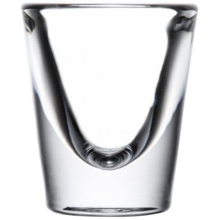 Libbey 5128 Fluted Whiskey / Shot Glass 7/8 oz. - 6 doz