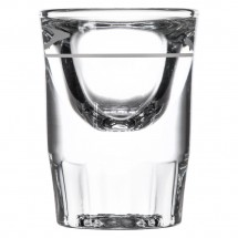 Libbey 5135/S0617 Fluted Whiskey / Shot Glass 1.25 oz. with 1/2 oz. Cap Line - 4 doz